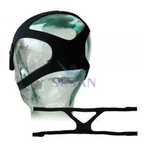 CPAP ve BPAP Cihazı Maskesi Standart Kafa Bandı Siyah 4 Kollu (1)