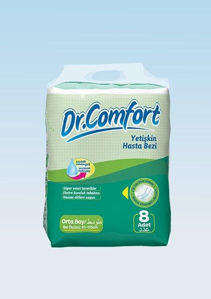 Bağlamalı Hasta Bezi Dr.Comfort Standart Medium 8li