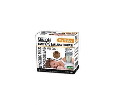 Hijyenik Süt Saklama Poşeti Minion MN 202 14lü