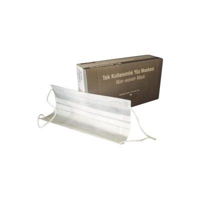 Lastikli (Cerrahi) Maske Plasmed MASK-NW Beyaz 2 Katlı 50li