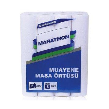 Muayene Masa Örtüsü Marathon 2 Katlı 8li