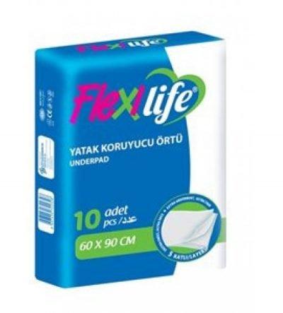 Yatak Koruyucu Örtü (Serme Bez) Flexi Life 60x90cm 10lu