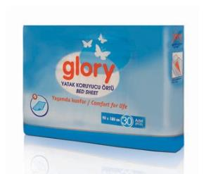 Yatak Koruyucu Örtü (Serme Bez) Glory 90x180cm 30lu