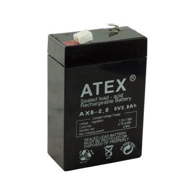 6Volt 2.8AH Batarya Atex AX6-2.8