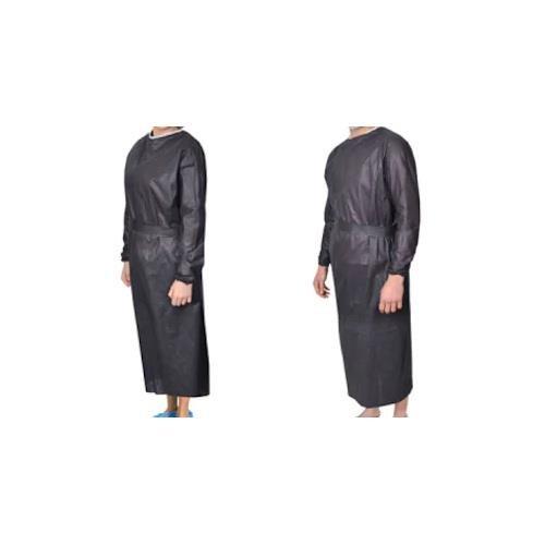 Disposable Uzun Kollu Siyah Önlük Sesan ONL-002