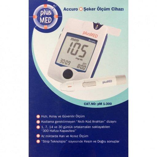 Kan Şekeri (Glikoz) Ölçer Plusmed Accuro PM 1-300