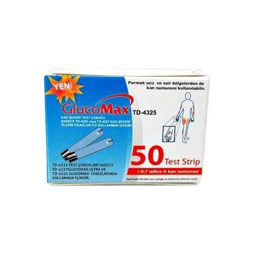 Kan Şekeri (Glikoz) Test Stribi GlucoMax TD-4325 50li