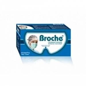 Yetişkin Cerrahi Maske Broche Beyaz 2 Katlı 50li
