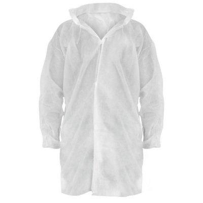 Disposable Uzun Kollu Beyaz Önlük Sesan ONL-003