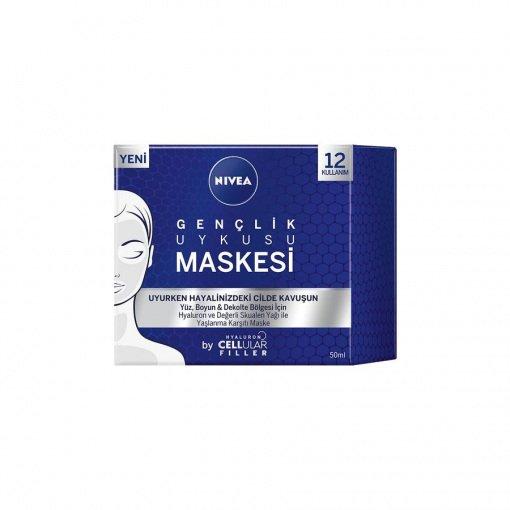 Gençlik Uykusu Maskesi Nivea Hyaluron Cellular Filler 50ml