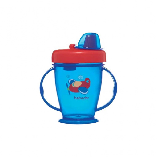 Sert Uçlu Kapaklı Alıştırma Bardağı Bebedor 8508 Mavi