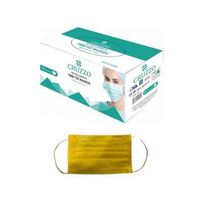 Çocuk Cerrahi Maske Cruzzo CRM01C Sarı 3 Katlı 10lu
