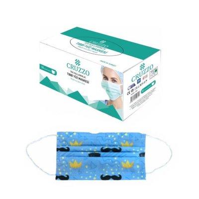 Desenli Yetişkin Cerrahi Maske Cruzzo CRM01YD 3 Katlı 10lu