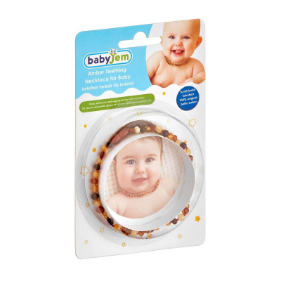 Kehribar Bebek Diş Kolyesi Babyjem ART-587