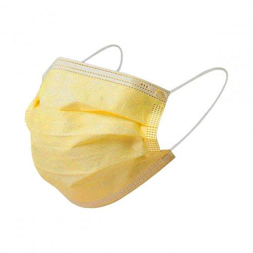 Yetişkin Cerrahi Maske Maksimed Sarı 3 Katlı