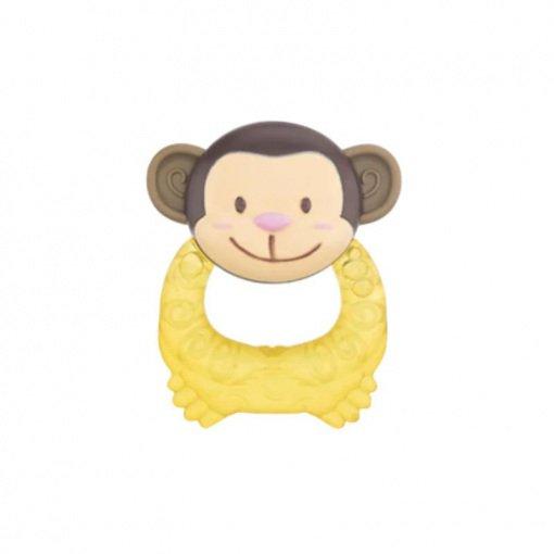 Yumuşak Uçlu Çıngıraklı Sulu Dişlik Bebedor 522 Sarı Maymun