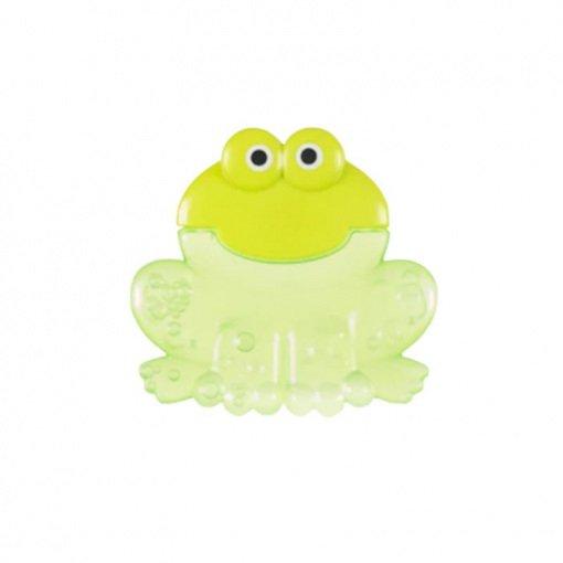 Yumuşak Uçlu Çıngıraklı Sulu Dişlik Bebedor 522 Yeşil Kurbağa