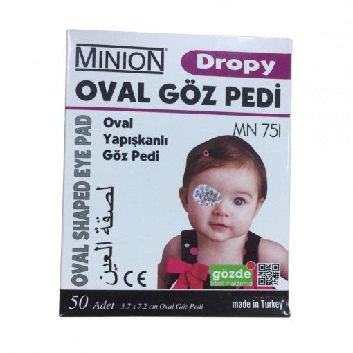 Yapışkanlı Göz Kapama Bandı Desenli Minion MN 751 50li