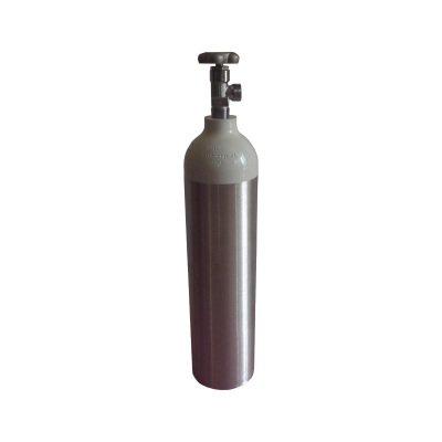 2 Litre Vanalı Alüminyum Oksijen Tüpü Sesan OT-008