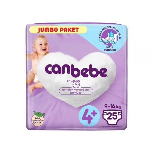 Bebek Bezi Canbebe Maxiplus Süper Eko No: 4+ 25li